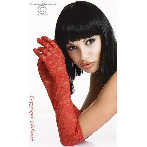 Cr-3071 gloria czerwone rękawiczki koronkowe, marki Chilirose