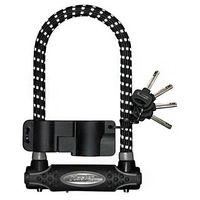 Master lock Zapięcie rowerowe masterlock 8195 u-lock pokryte gumą z refleksem czarne (3520190940780)