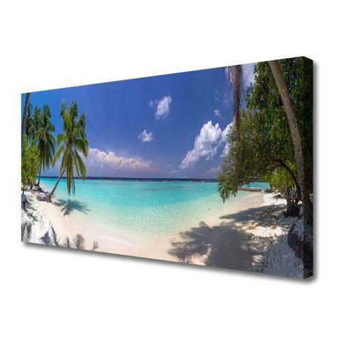 Obraz na płótnie morze plaża palma krajobraz marki Tulup.pl