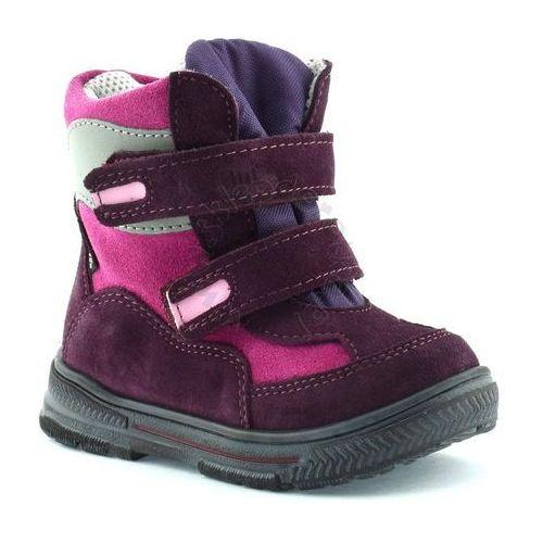 Ren but Śniegowce dla dzieci z membraną renbut 12-1463 - różowy ||fioletowy