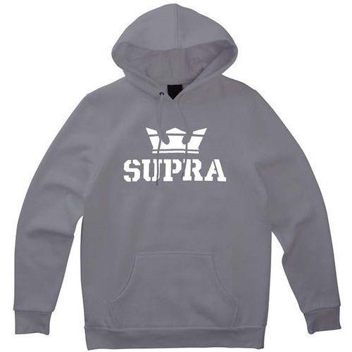 bluza SUPRA - Above Pullover Hood Charcoal/White-White (052) rozmiar: XL, kolor biały