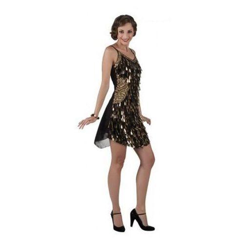 Aster Sukienka złote krople - m przebrania dla dorosłych