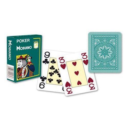 Modiano 4 rogi 100% karty z plastiku - Zielone (8003080004830)