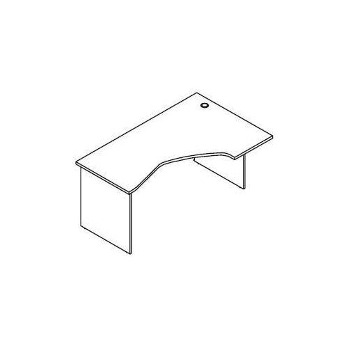 Biurko kątowe bh47 wymiary: 160x100x75,8 cm marki Svenbox
