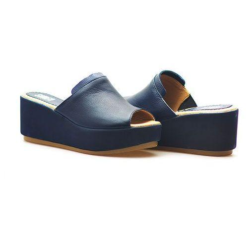 Klapki Simen 0269 Feada Granat SM Lico, kolor niebieski