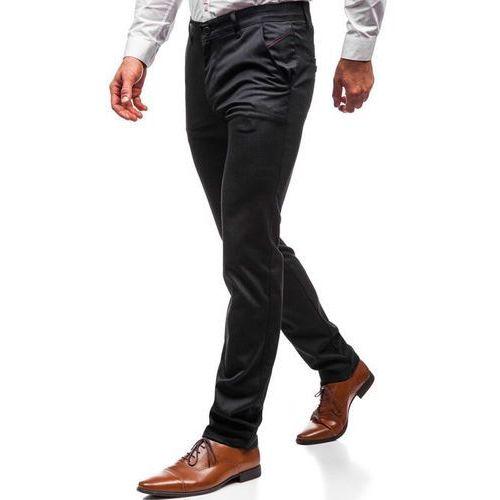 Spodnie wizytowe męskie antracytowe Denley 7624, kolor szary