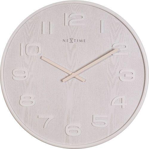 Zegar ścienny Wood Wood Nextime 53 cm, biały (3095 WI)