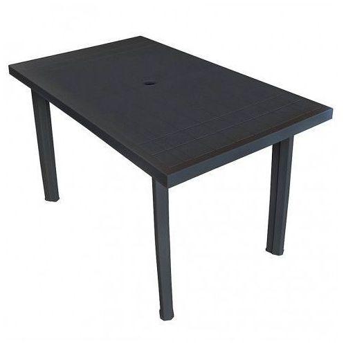 Elior Praktyczny stół ogrodowy imelda 2x - antracytowy