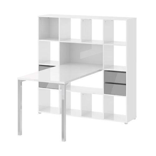 Tvilum Function biurko z regałem wysoki połysk
