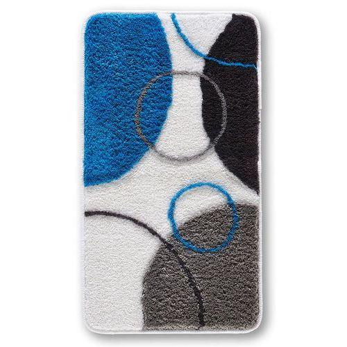 Bonprix Dywaniki w graficzny wzór niebieski
