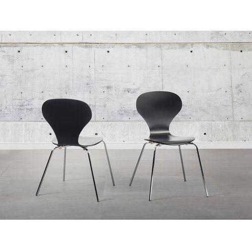 Beliani Krzesło czarne - krzesło do jadalni - krzesło do kuchni - queens (7081454997330)