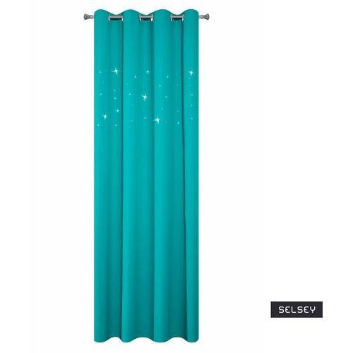 Selsey zasłona na przelotkach lilori 140x250 cm z odobnymi cyrkoniami