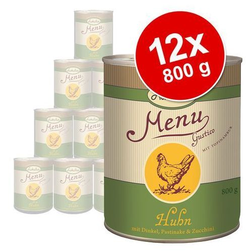Korzystny pakiet Lukullus Menu Gustico, 12 x 800 g - Sensitive wołowina z pasternakiem (4260077041450)