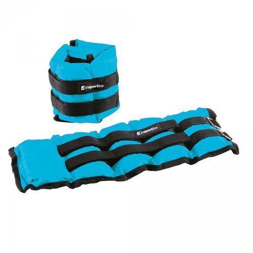 Regulowane obciążenie na kostki i nadgarstki inSPORTline BlueWeight 2x2 kg