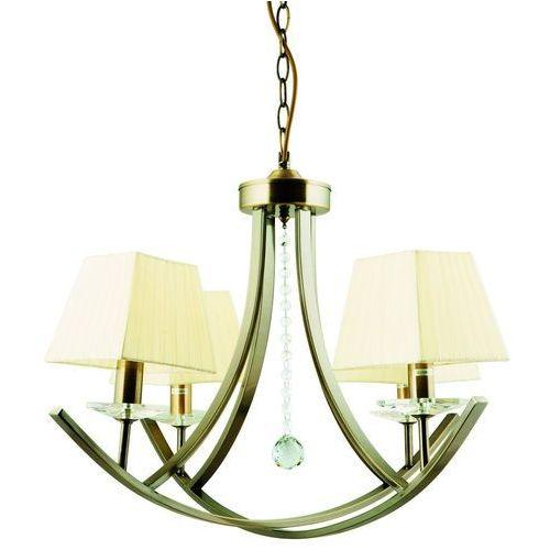 Lampa wisząca zwis Candellux Valencia 4x40W E14 patyna 34-84555, kolor Złoty