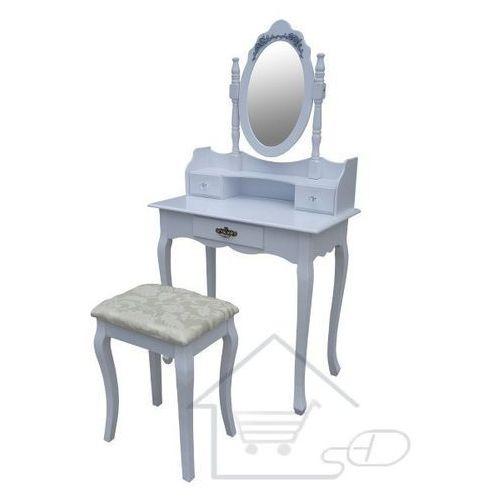 1 Toaletka kosmetyczna z lustrem + taboret sekretarzyk do sypialni