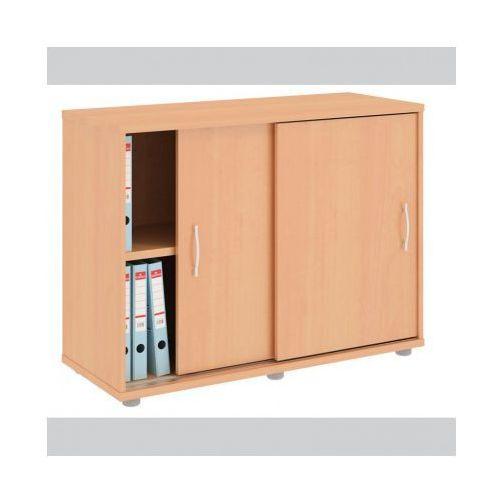 Szafa Variant z przesuwnymi drzwiami, 1000x400x753 mm, grusza aroso - sprawdź w wybranym sklepie