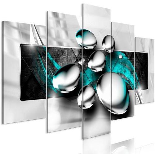 Artgeist Obraz - błyszczące kamienie (5-częściowy) szeroki turkusowy