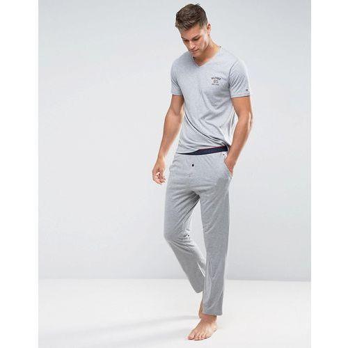 lounge pants icon waistband in grey heather - grey marki Tommy hilfiger