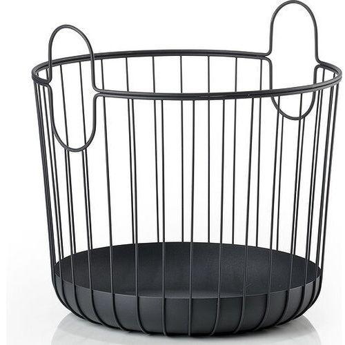 Kosz na pranie Inu 40,5 x 41 cm czarny