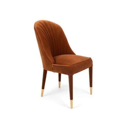 Bold monkey krzesło give me more velvet chair pomarańczowe bm11004