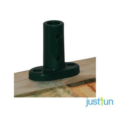 Podstawa mocująca linę zbrojoną 16 mm ECO do podłoża - czerwony