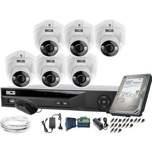 ZM11976 Obserwacja monitoring domu posesji 6x BCS-DMQE1500IR3-B rejestrator BCS-XVR08014KE-II 1TB