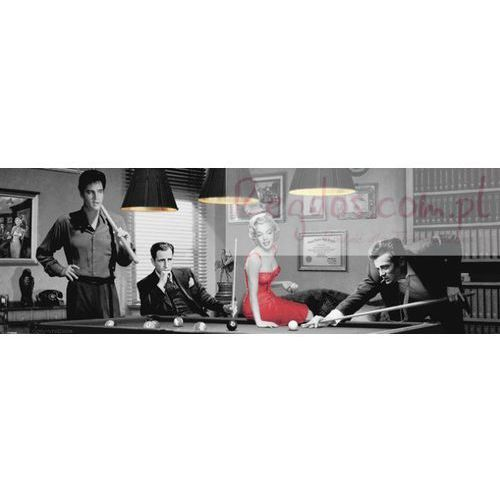 Marylin Monroe, James Dean, Elvis Presley Bilard by Chris Consani - plakat, kup u jednego z partnerów