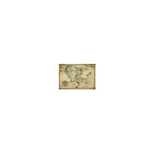 Gb Antyczna mapa na pergaminie - władca pierścieni lord of the rings - edycja kolekcjonerska - reprodukcja