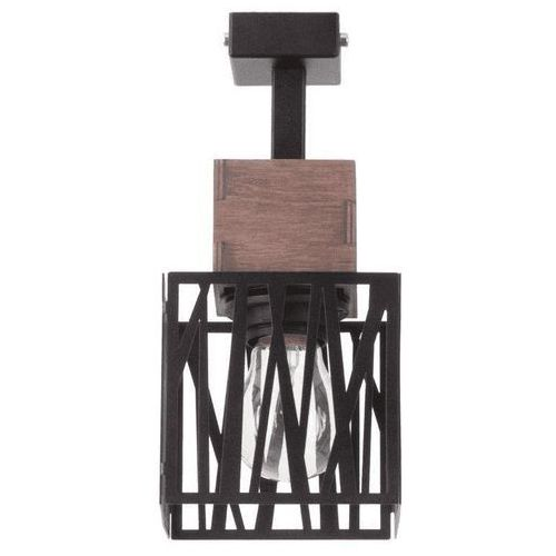 Plafon LAMPA sufitowa DALI 31477 Sigma kwadratowa OPRAWA metalowa hygge drewno czarna (5902846812333)