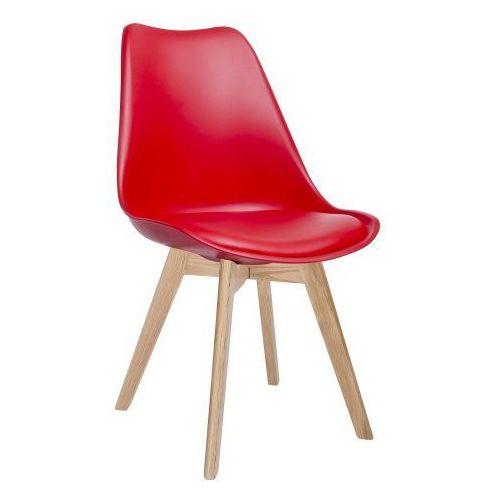 Krzesło NORDIC czerwone z poduszką, 8056-1.RED