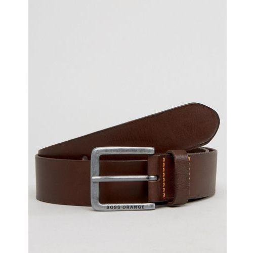 by hugo boss jeek leather jeans belt tan - brown od producenta Boss orange