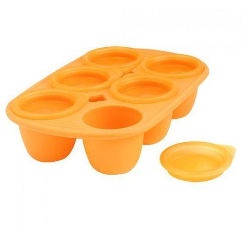 Mastrad Forma z 6 wgłębieniami na posiłki dla dziecka 60 ml pomarańczowa