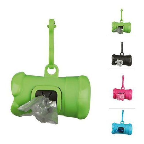 Trixie plastikowy pojemnik etui + worki na psie odchody