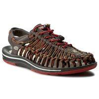 Sandały KEEN - Uneek Stripes 1014620 Red Dahlia/Raya, kolor brązowy