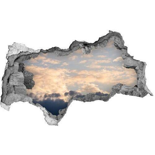 Dziura 3d w ścianie naklejka Chmury na niebie