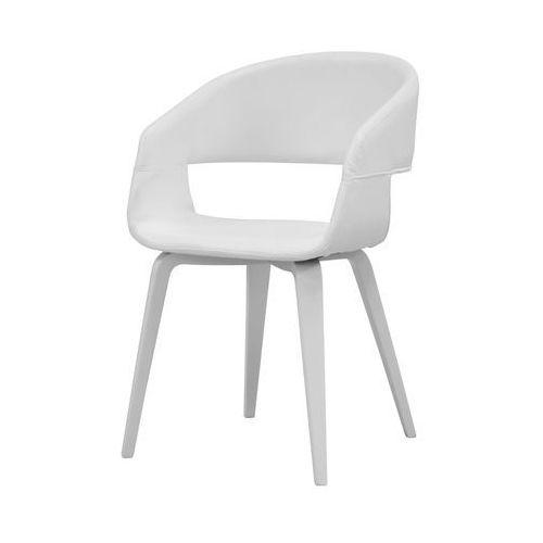 Krzesło nova białe, skóra ekologiczna, drewno malowane, 22144-22 marki Interstil