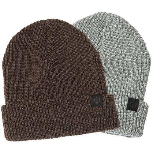 czapka zimowa KREW - Gunner Beanie 2 Pk Grey Htr/Olive (GRG) rozmiar: OS, kolor szary
