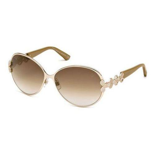 Okulary Słoneczne Swarovski SK 0072 28F, kolor żółty
