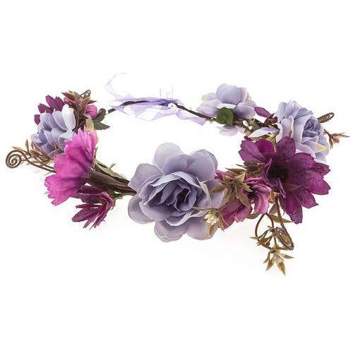Iloko Wianek dużo kwiatów fuksja fiolet - fuksja fiolet
