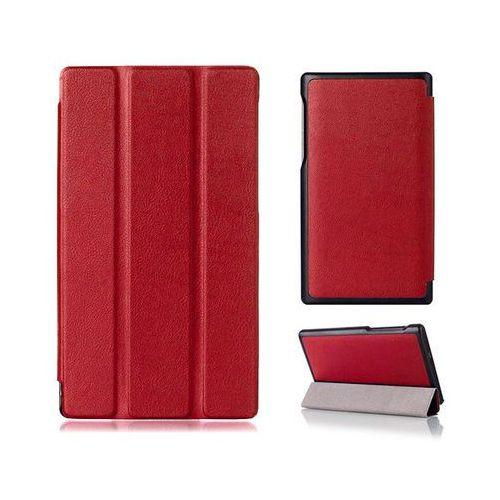 """Etui skórzane PU """" Book Cover"""" Lenovo Tab 2 A7-10F - Czerwony, kolor czerwony"""