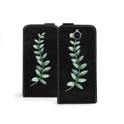 Etuo flip fantastic Huawei y6 (2017) - etui na telefon flip fantastic - zielona gałązka