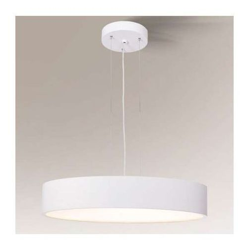 LAMPA wisząca BUNGO 5519/G5/BI Shilo metalowa OPRAWA okrągły ZWIS biały, 5519/G5/BI