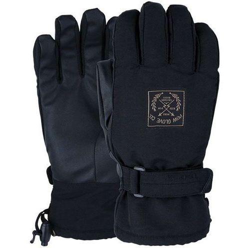 Pow Rękawice snowboardow - xg mid glove black (short) (bk) rozmiar: l