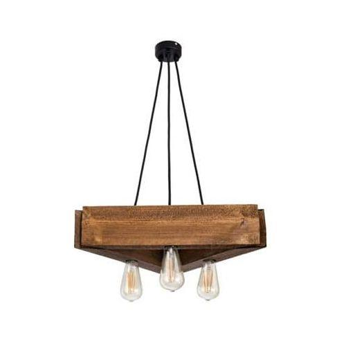 Mabrillo Lampa wisząca drewniana parilla - dąb satynowy rustykalny