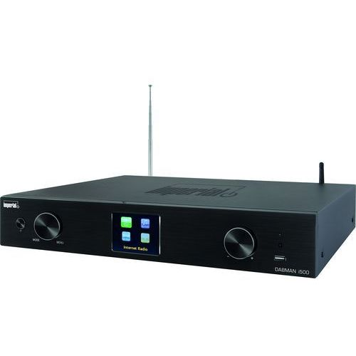Imperial 22 – 250 – 00 dabman i500 hybrydowy tuner hifi (wi-fi/lan/dab +/dab/fm, kolorowy wyświetlacz tft, usb, cinch, szerokokątny obiektyw/elektryczna wyjście cyfrowe, sterowanie za pomocą pilota zdalnego sterowania, app) czarny