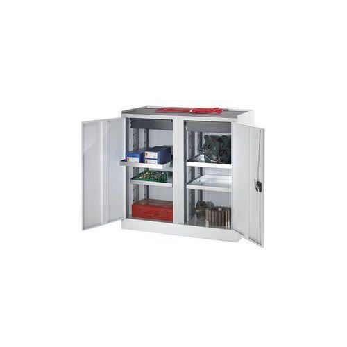 Szafy na narzędzia i szafy dostawne,2 szuflady, 4 półki, 1 środkowa ścianka działowa marki Quipo