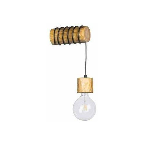 Spot Light Trabo Pino 69379151 kinkiet lampa ścienna 1x25W E27 drewno/czarny (5905840209253)