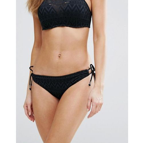 black crochet bikini bottom - black, Dorina
