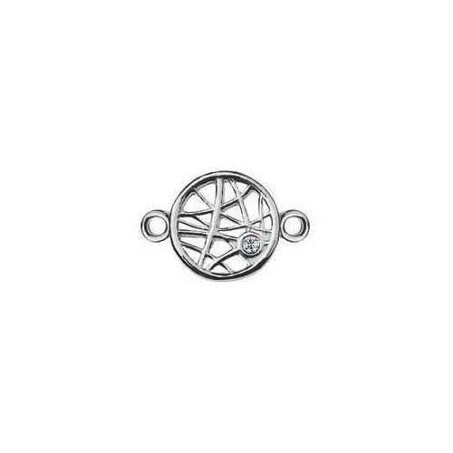 925.pl Łącznik / zawieszka kółko ażurowe z kamieniem swarovski, srebro 925 s-charm 310